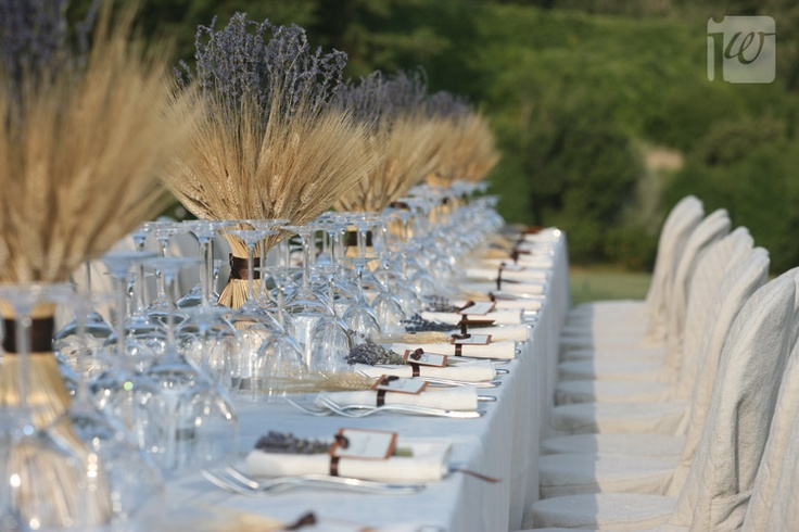 Lavender and wheat centerpieces pretty my beach wedding