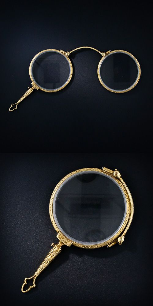 Victorian Lorgnette.  Image from Lang Antiques