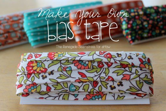 It's easy! The Renegade Seamstress shows you how to make your own bias tape