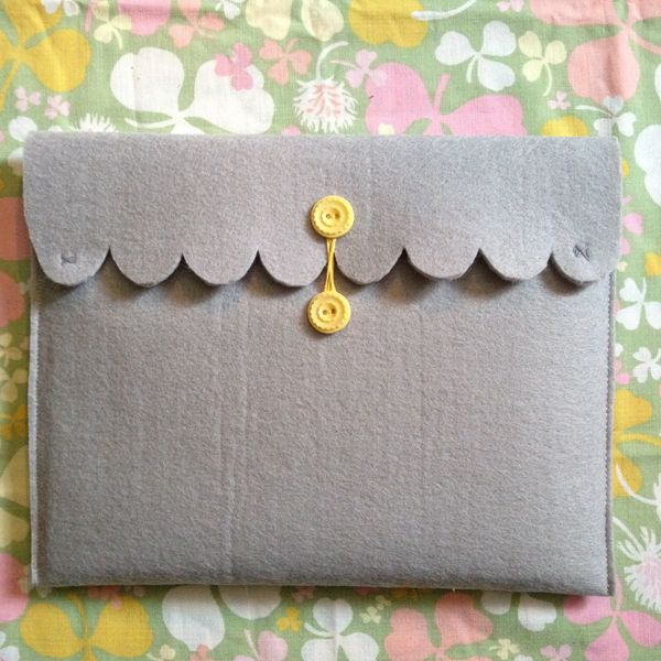 Oh So Lovely Vintage: DIY Scalloped iPad Case