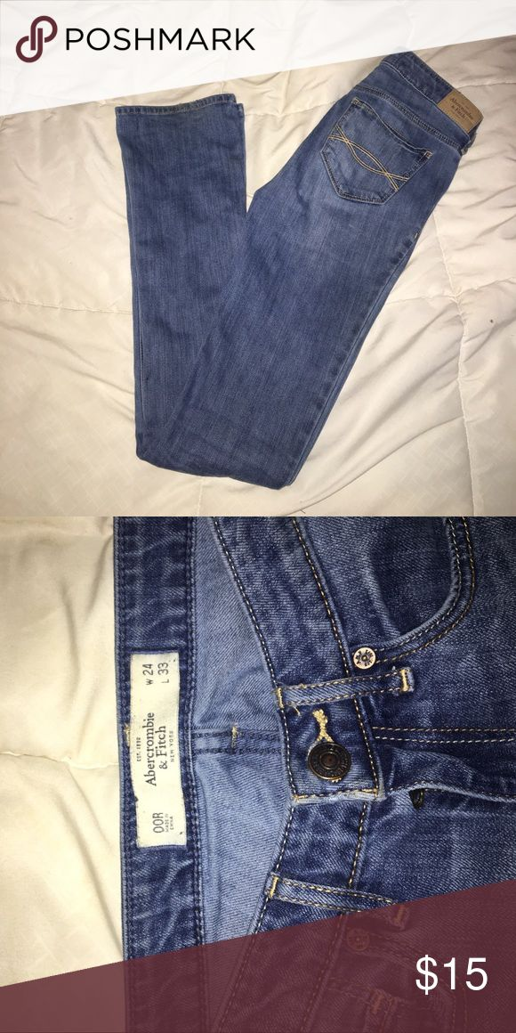 Abercrombie and fitch boot cut jeans Medium wash Abercrombie and fitch jeans size OOR worn twice. No rips or distress Abercrombie & Fitch Jeans Boot Cut