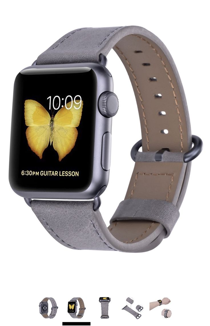 JSGJMY Apple Watch Band 42mm Men Grey Vintage Genuine Leather Strap Replacement Watchbands with Black/Space Grey Metal Clasp for iWatch Series 3,Series 2,Series 1,Sport,Edition https://www.amazon.com/dp/B0788P5FJV/ref=cm_sw_r_cp_api_il.qAbKMV6P93