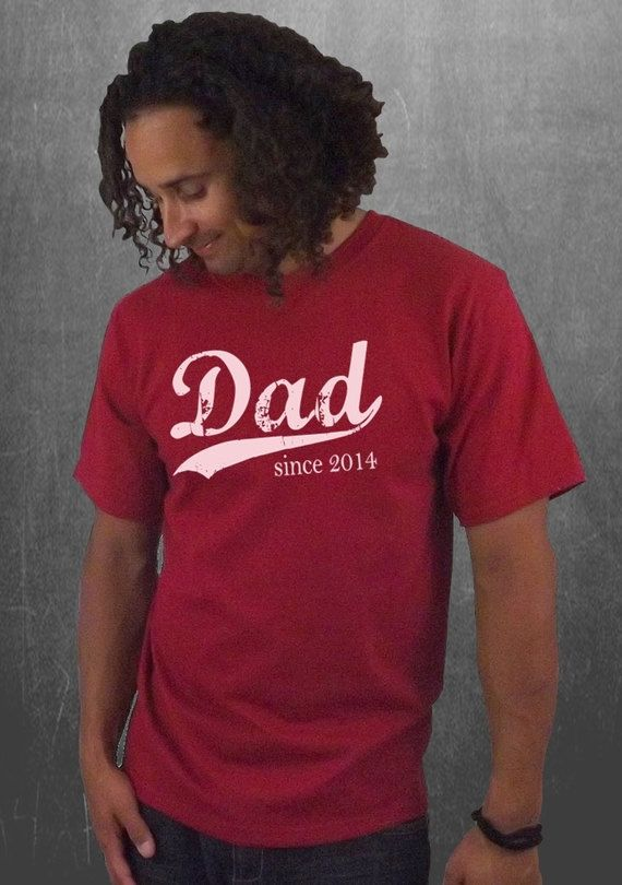 Dad since (any year) tshirt - this is such an incredible handmade Father's Day gift for any Dad! $20