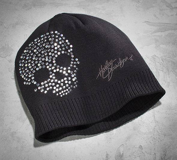 Women's Crystal Skull Knit Hat | Cold Weather | Official Harley-Davidson Online Store