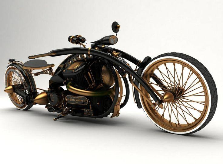 The Black Widow - Steampunk Bike - Mikhail Smolyanov