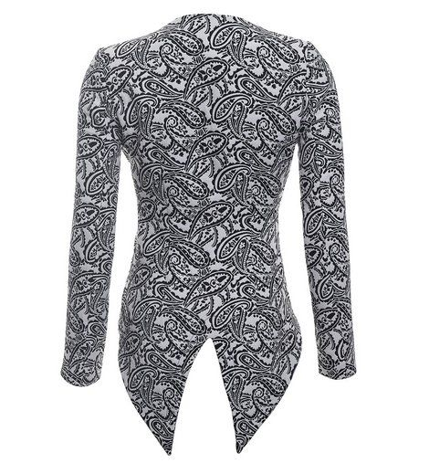 Charlie Brown - 'GTO' Jacket  A tuxedo style fitted jacket with bold lapels, crafted from a paisley jacquard, featuring double hook front closure.    Main: 100% Polyester, Lining: 97% Polyester, 3% Spandex.    BUY NOW