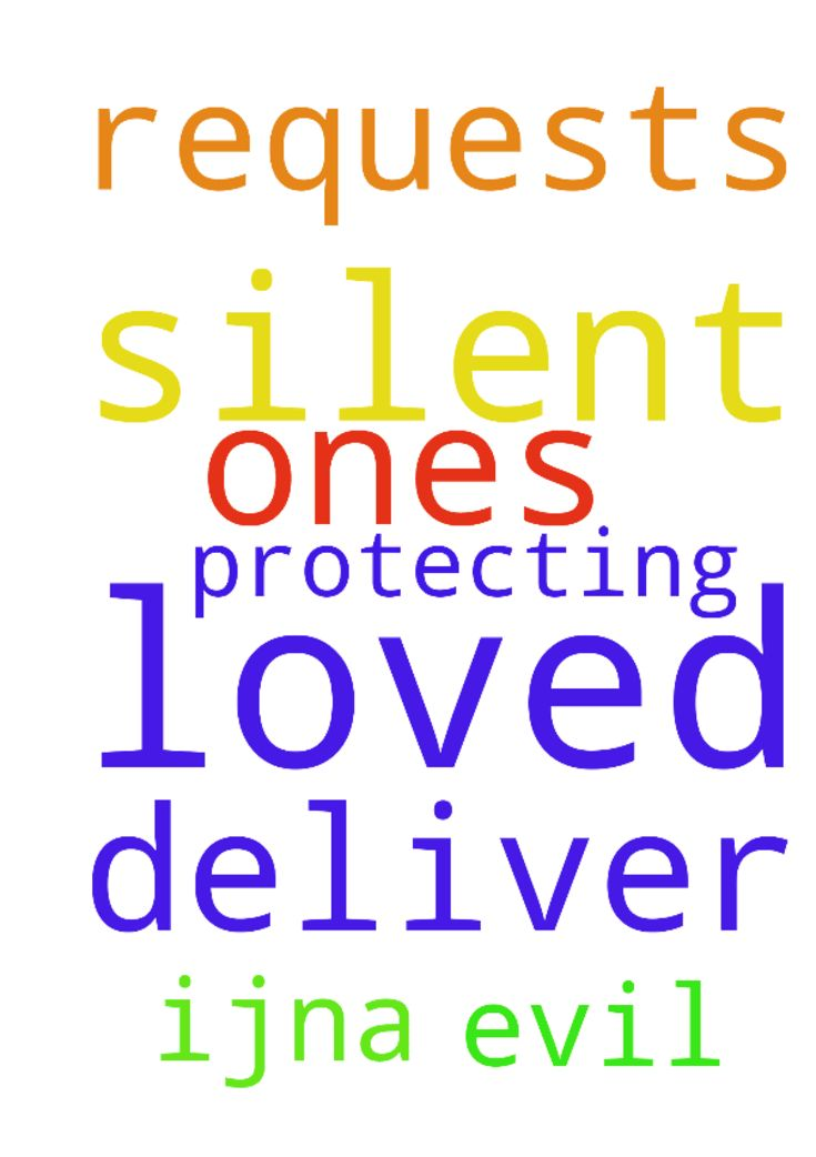 God, I ask the silent requests. Deliver me, loved ones - God, I ask the silent requests. Deliver me, loved ones amp; all here from evil. Thank You and for protecting us, IJNA. Posted at: https://prayerrequest.com/t/CNi #pray #prayer #request #prayerrequest