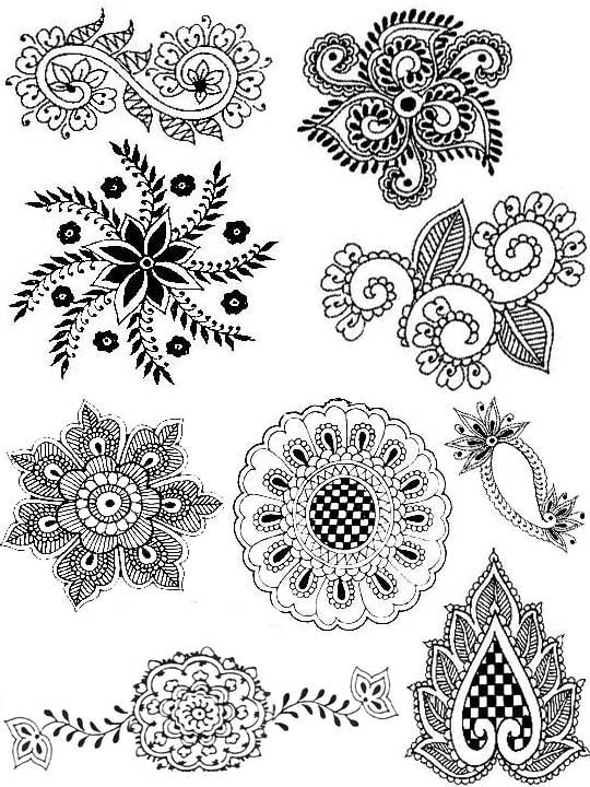 Elements From Indian Patterns Mandalas Stencils Walls Tiles Cool Indian Design Patterns