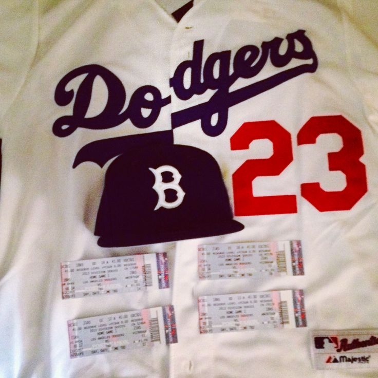 Adrian Gonzalez Dodgers jersey and playoff tickets for game 4 on 10-6-13