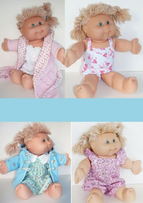Vintage Cabbage Patch Dolls in Frilly Lily clothes available from www.frillylily.co.uk