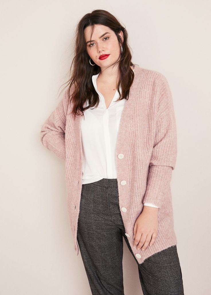 Buttoned long cardigan – Plus sizes, #Buttoned #Cardigan #Long #sizes