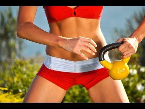 30 Min Kettlebell Workout - Get Sleek and Slim! - YouTube