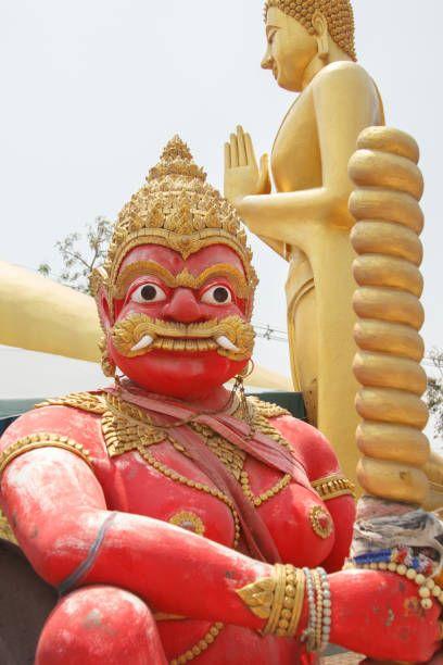 giant sculpture at wat kok mai daeng phitsanulok province thailand
