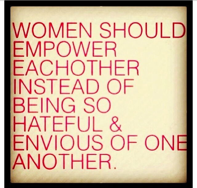I feel as the years wears on I see a lot of hateful women putting each other down instead of being united. Why all the bad energy when we work together we made history happen. Need a refresher? Are we able to vote? Yes. Why? Because women united and made it happen.