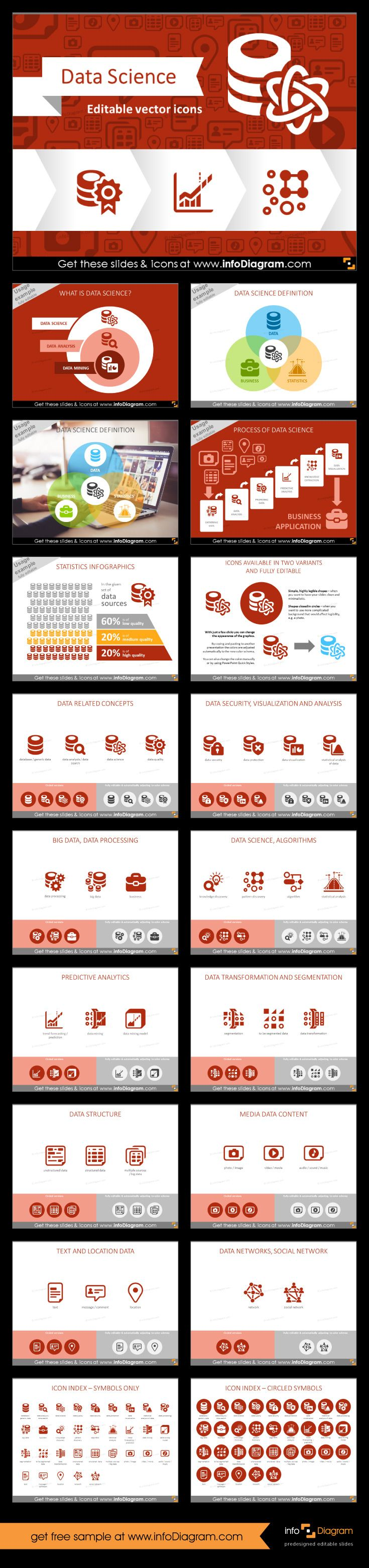45 best business powerpoint templates images on pinterest get modern flat ppt icons big data science predictive analytics quality presentation infographics processing transformation segmentation vector symbols toneelgroepblik Image collections
