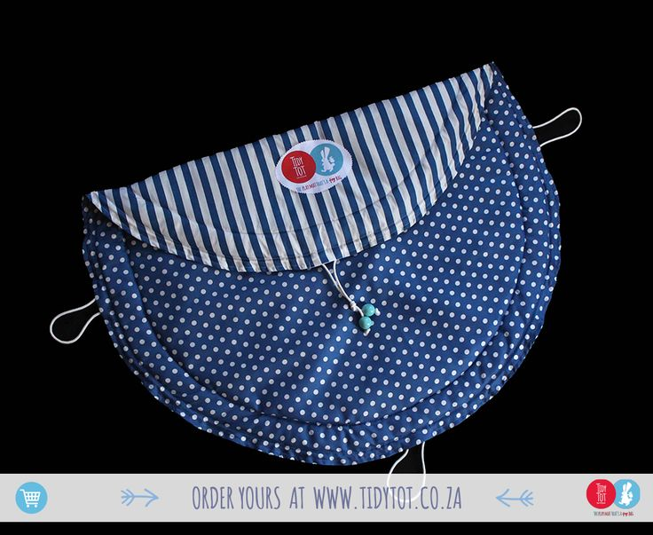 Tidy Tot - Dots and Stripes have proved so popular that we we're delighted to include this lovely Air Force Blue TIDY TOT to our range. For the discerning Mum you cant go wrong if you chose this beautifully PADDED, made for comfort and convenience, TIDY TOT.  www.tidytot.co.za | The Play Mat That's a Toy Bag