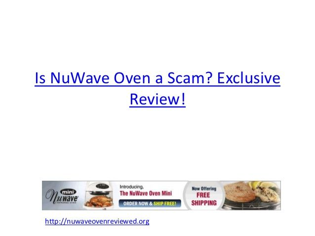Is Nuwave Oven A Scam Nuwave oven Pinterest Ovens