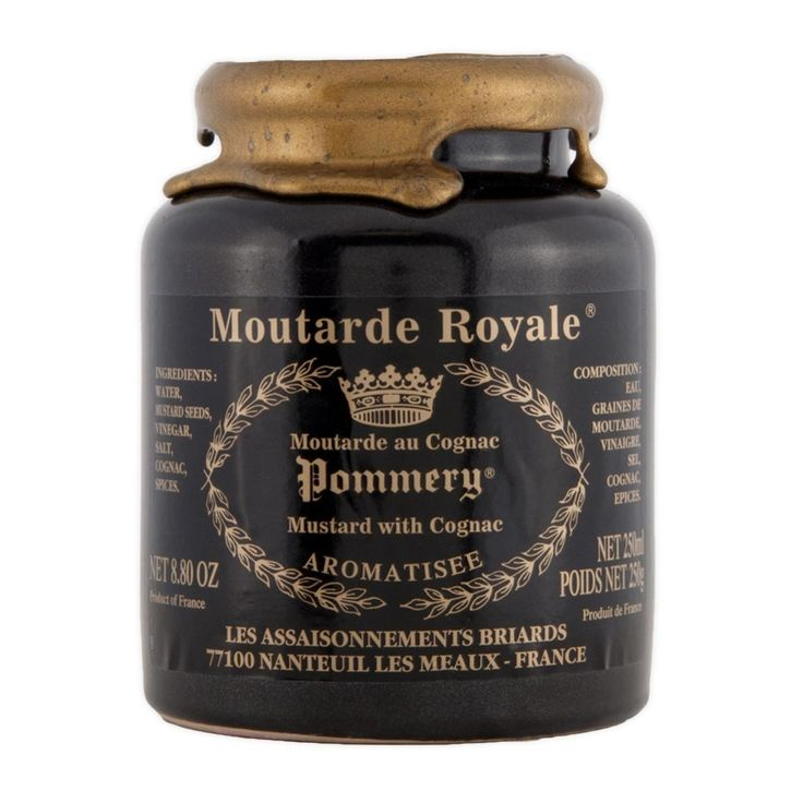 Pommery Moutarde Royale Mustard with Cognac 250ml - This is something we just can't be without thanks to my mom..