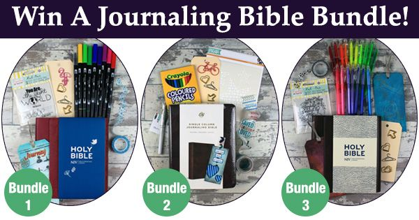 Win A Journaling Bible Giveaway Bundle   Qualify For FREE Printable!