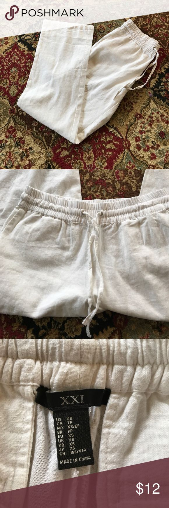 NWT F21 White beach pants NWT!!! I have a black pair and they are incredibly comfy! Great for lounging or can be dressed up! Forever 21 Pants