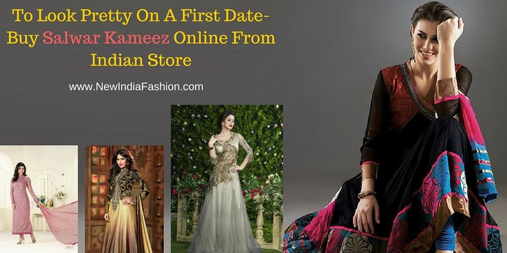 To look pretty on a first date- buy #salwar #kameez online from Indian store