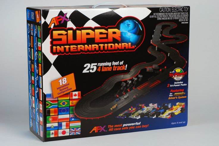 MegaHobby.com - 4-Lane Super International HO Slot Car Set AFX, $378.89 (https://www.megahobby.com/products/4-lane-super-international-ho-slot-car-set-afx.html)