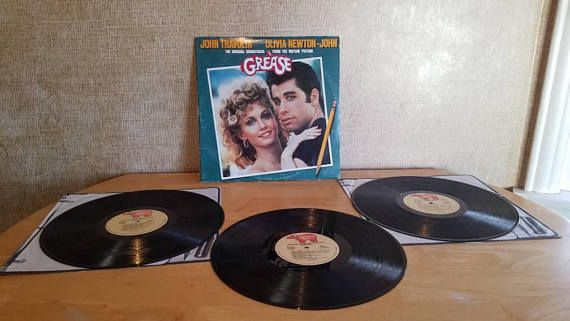 Check out this item in my Etsy shop https://www.etsy.com/listing/597453975/grease-soundtrack-john-travolta-olivia
