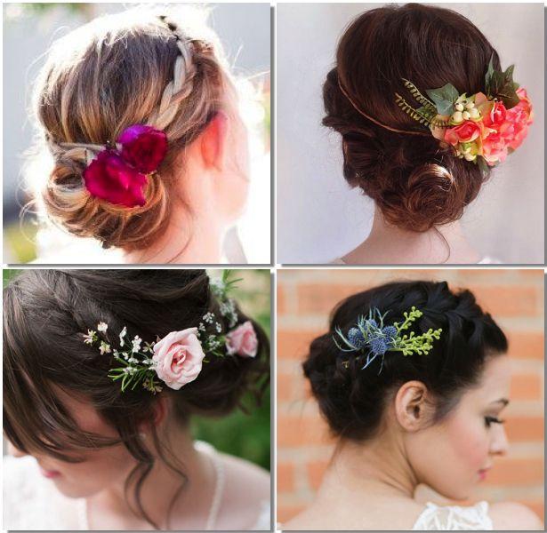 Tendencias 2014 peinados con flores