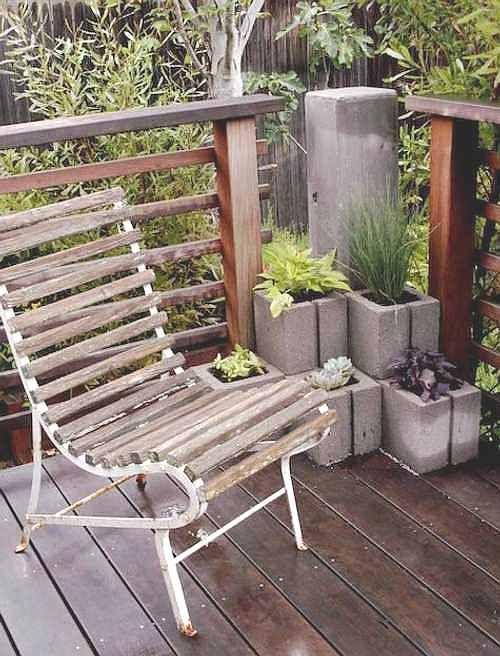 17 mejores ideas sobre banco de bloques de hormig n en for Bloques de cemento para jardin