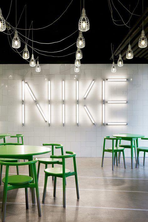 Nike EatMeet area by Workshop of Wonders. Hilversum, Netherlands