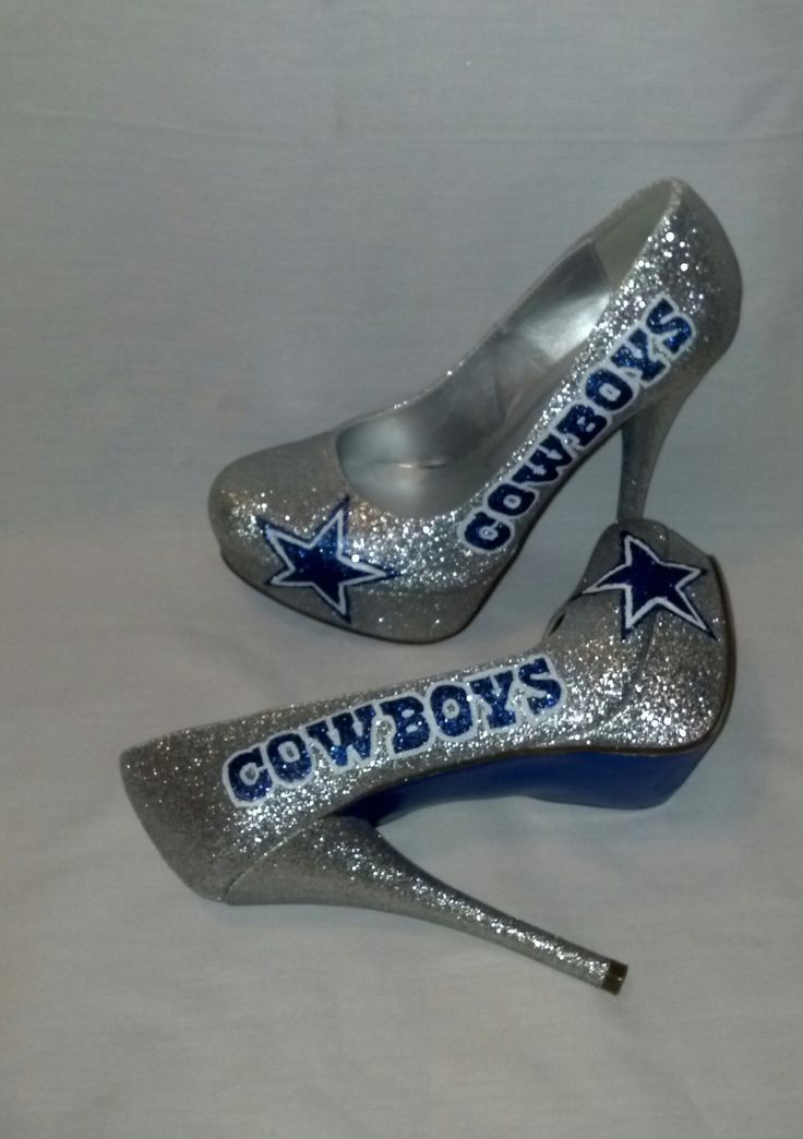 Dallas Cowboys heels by KustomRoyalKicks on esty