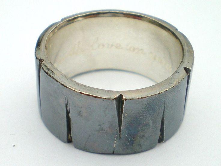 HERCULE - 925er silber Ring 8mm von Kalicat Silber und Gold Schmuckdesign auf DaWanda.com  So ein schöner, erdiger Ring.