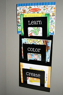playroom color book and art storage. Perfect for holding avarys coloring books