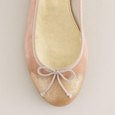 Glimmer-tip ballet flats