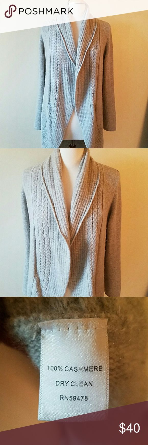 Laundry by Shelli Segal cashmere sweater Laundry by Shelli Segal Size Large Fits TTS Gray in color So soft Worn one time 100% cashmere Laundry by Shelli Segal Sweaters Cardigans