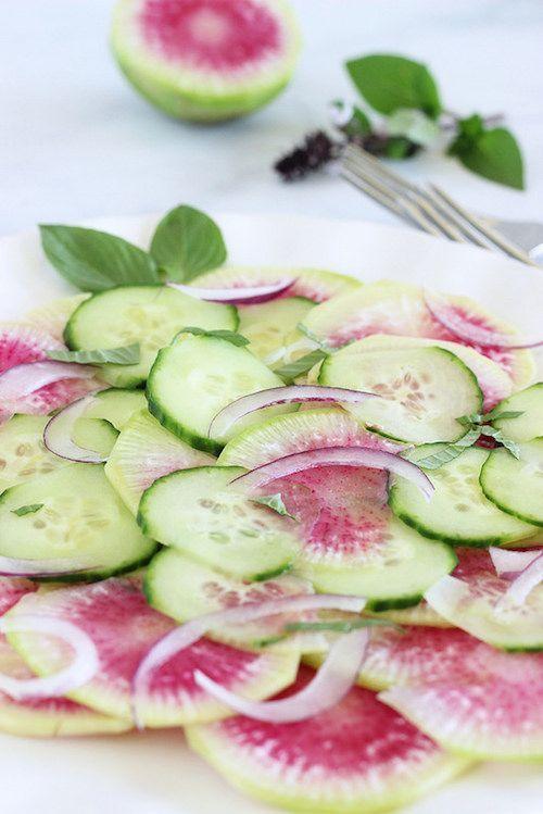 Asian Watermelon Radish Saladcraving Something Healthy -9582