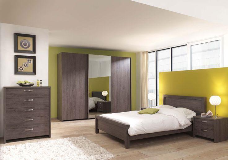 Chambre A Coucher En Bois Massif Moderne : Chambre Moderne Adulte Blanche: Chambre compl?te design Donnez un