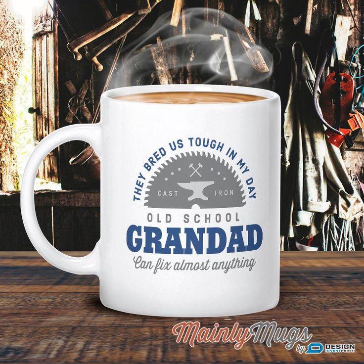 Grandad Mug, Birthday Gift For Grandad! Old School Grandad, Grandad Gift. Grandad, Grandad Present, Grandad Birthday Gift, Gift For Grandad!