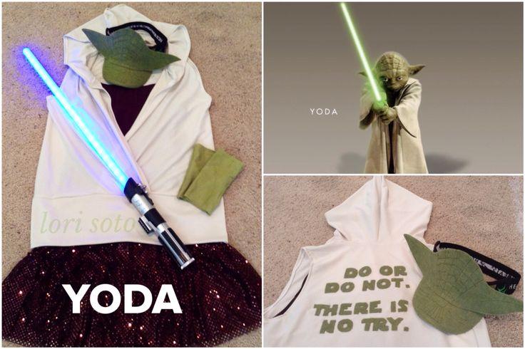 YODA running costume for 2015 Inaugural Star Wars 10K. runDisney. Photo and costume by Lori Soto.