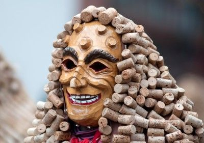 Fasching, Lahr - Cork costume, just one of a great many interesting costumes