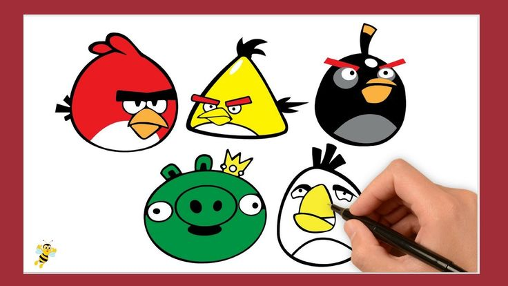 Drawing Angry Birds For Kids-Draw Red/Draw Yellow/Draw