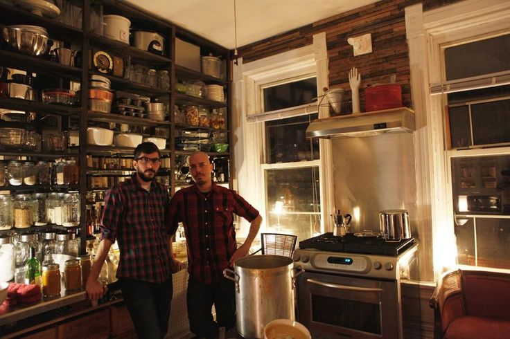 This may be the best use of shelving I have ever seen. Functional and beautiful. -- James and Dom's Patience in Pilsen -- Apartment Therapy