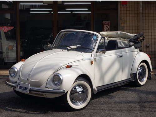 1975 VW Beetle 1303S White Cabriolet   Here is a 1975 white VW Beetle Cabriolet 1303S model for sale by Goo Auto, Inc., Japan.  The car is located in Tokyo, Japan.  The car is not sold for export, is only for sale to local people.  More details at:  http://beetle.cabriolets.online.fr/nucleus/index.php?itemid=2540