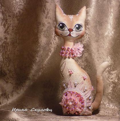 Игрушки животные, ручной работы. Ярмарка Мастеров - ручная работа. Купить Авторские текстильные сувениры ...Кошечка.... Handmade. Кошки, текстиль