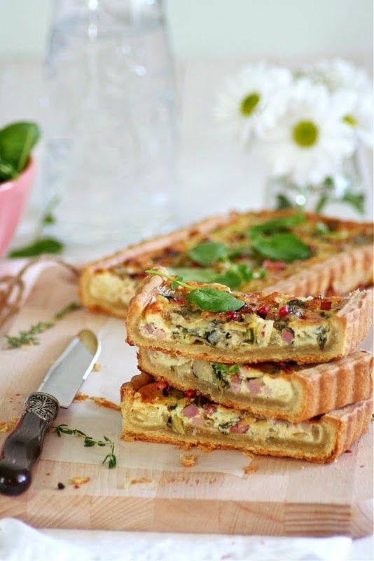 Tarta salada de bok choy, bacon y Stilton | Food and Cook
