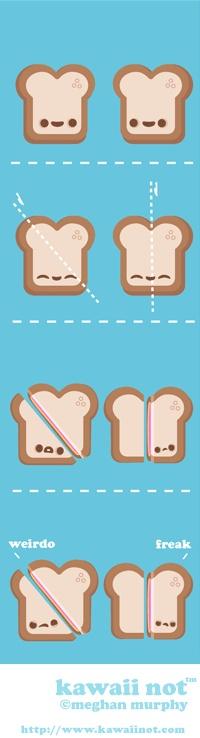 Sandwich Prejudice (Kawaii Not Comic)