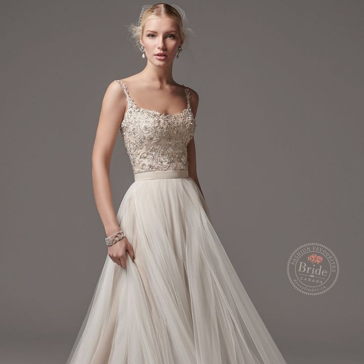 Alita (top) + Ashby (skirt) from Sottero & Midgley collection, as seen on dressfinder.ca