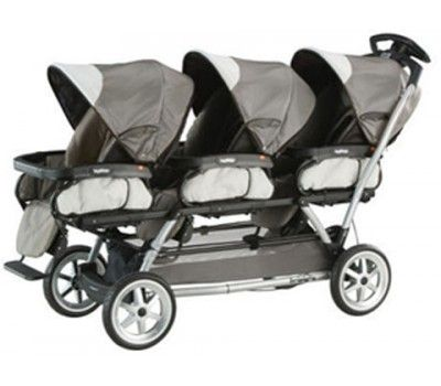 Pram / Stroller -- The Peg Perego Triplet Stoller is a travel-system built with strength and stability. Modular chassis for instant attachment of three stroller seats or three matching Peg Perego car seats or any combination. Peg Perego Triplet Stoller Suitable newborn up to 4 years.