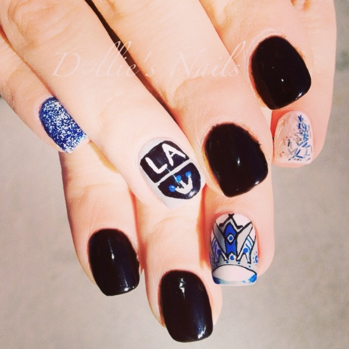 17 Best Images About Hockey Nail Art On Pinterest