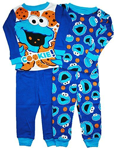 Sesame Street Cookie Monster Baby Boys 4 Pc Tight Fit Cotton Pajama Set (18 Months) AME Sleepwear http://www.amazon.com/dp/B00SU0FP7A/ref=cm_sw_r_pi_dp_8CmIwb1JRY6CC